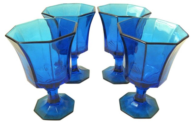 Turquoise Goblets, Set of 4