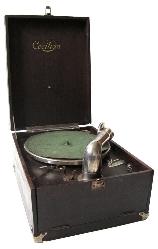 Portable Wind-Up Phonograph, C. 1920