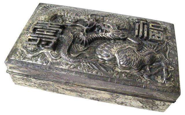 Silverplate Dragon Box