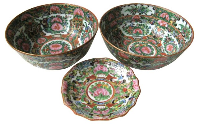 Famille Rose Bowls, S/3