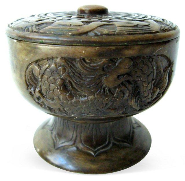 Carved Serpentine Jar