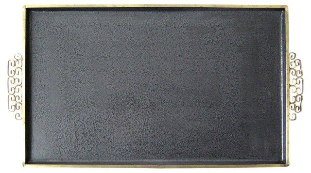 Black Moiré Glaze Kyes Tray