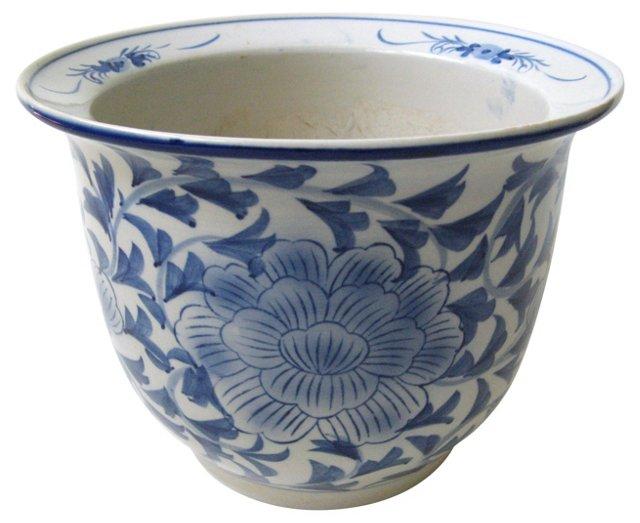 Blue & White Chinese Plant Pot