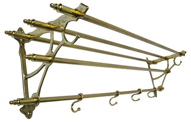 Brass Pullman Storage Rack