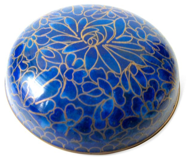 Blue Cloisonné Box