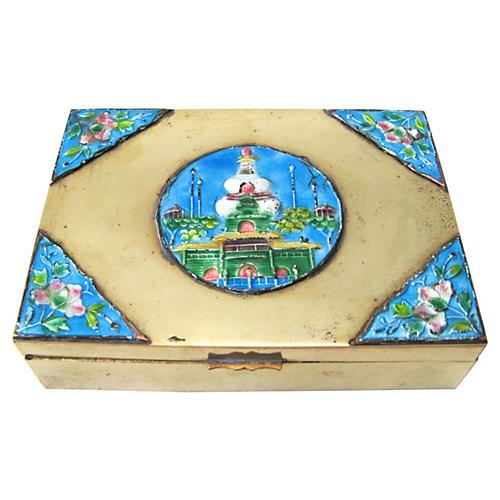 Brass & Enamel Box