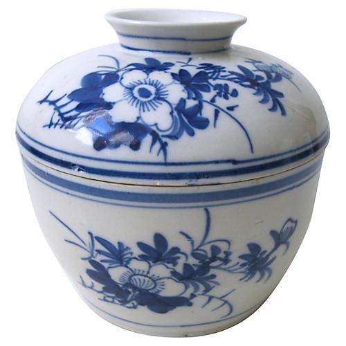 Blue & White Chinese Jar C. 1920