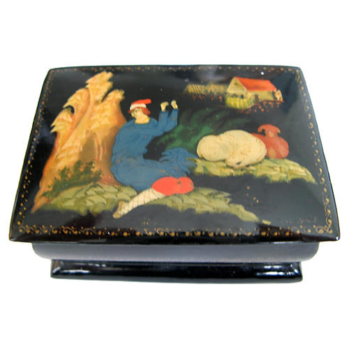 Russian Palekh Lacquer Box