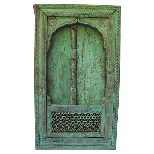 Antique Carved Jaipur Window