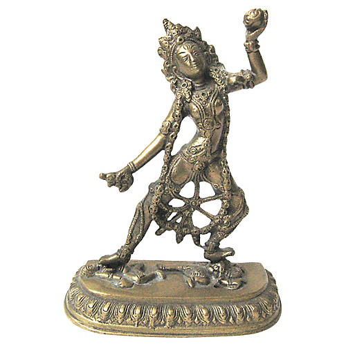 Brass Hindu Devi Statue