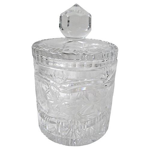 Cut Crystal Biscuit Jar