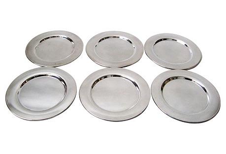 Silver Plate Bread Plates, S/6