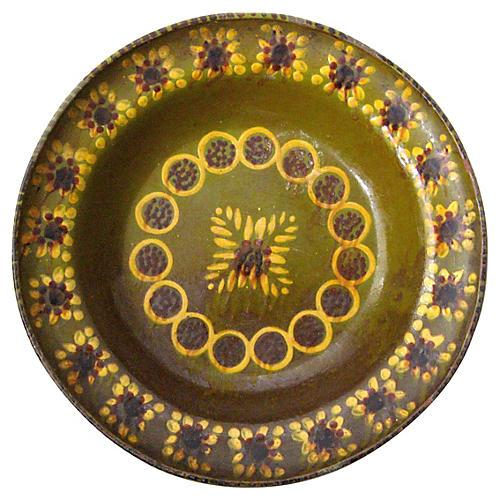 Large Antique Provençal Bowl