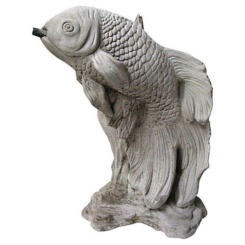 Concrete Koi Fountain