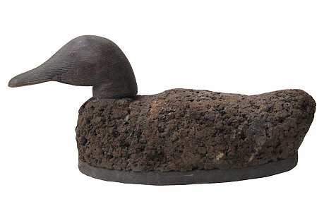 Antique Cork Duck Decoy