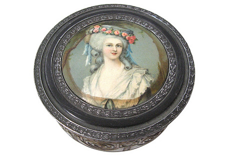 Portrait Powder Box, C. 1930