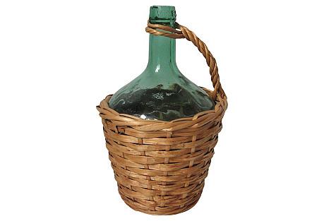 Spanish Wicker-Wrap Bottle
