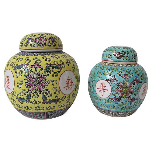 Chinese Tea Jars, S/2