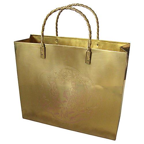 Chinoiserie Brass Magazine Bag
