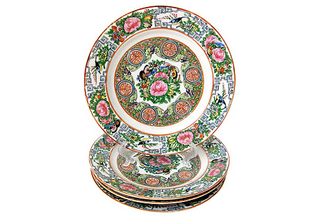 Famille Rose Plates, S/4