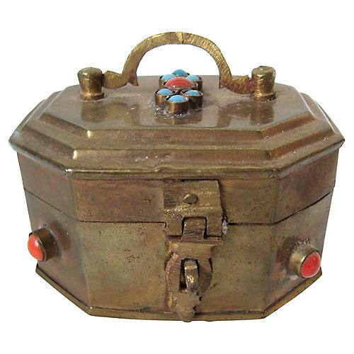 Jeweled Brass Box