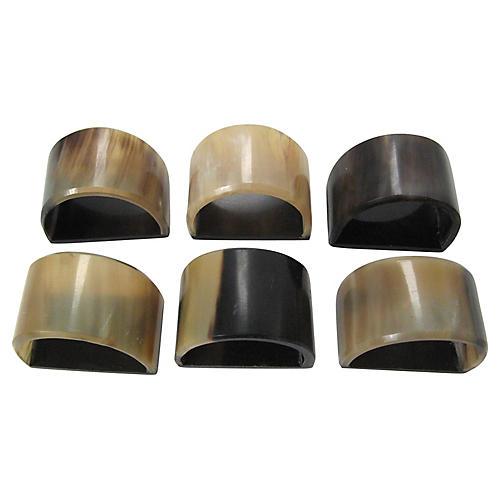 Horn Napkin Rings, S/6