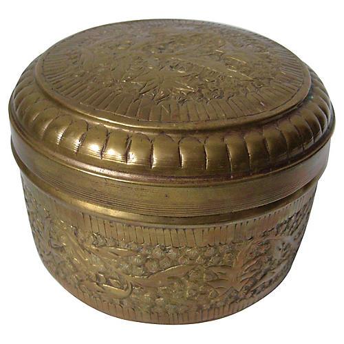 Moroccan Engraved Brass Box