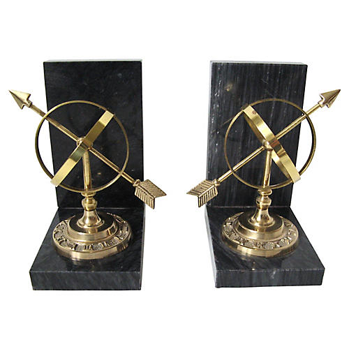 Armillary Bookends, Pair