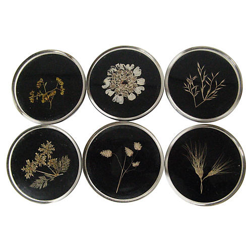 Pressed Botanical Coasters