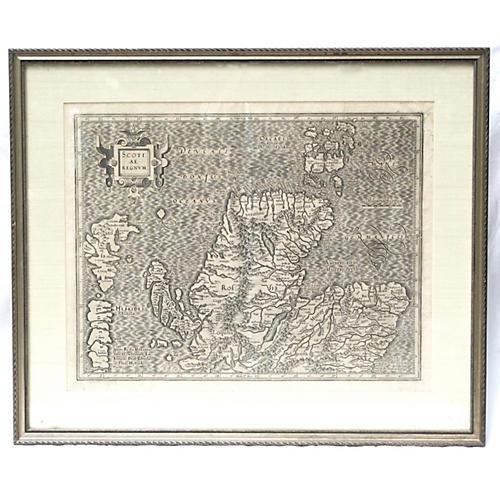 1625 Mercator Map of Scotland