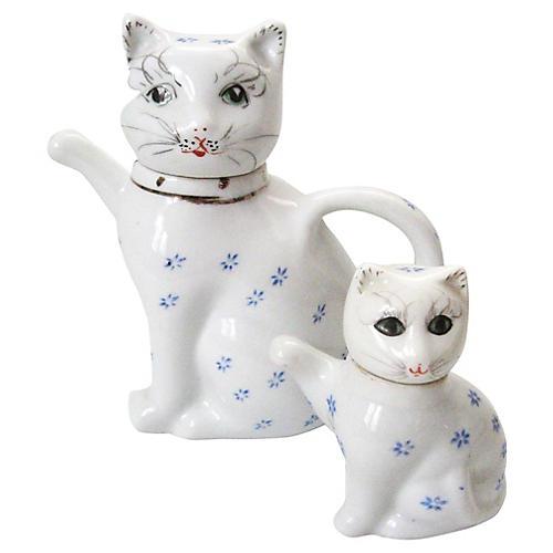 Cat Teapot & Creamer Set