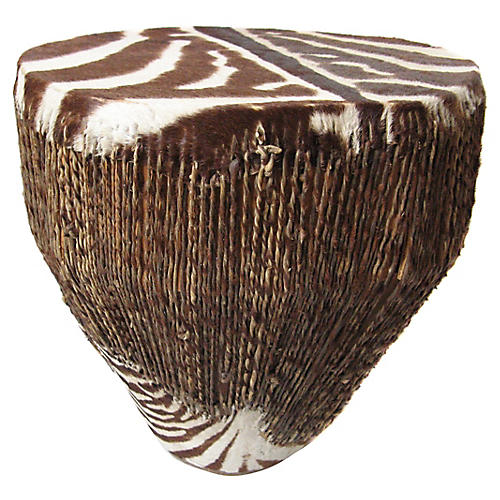 Zebra Hide Drum