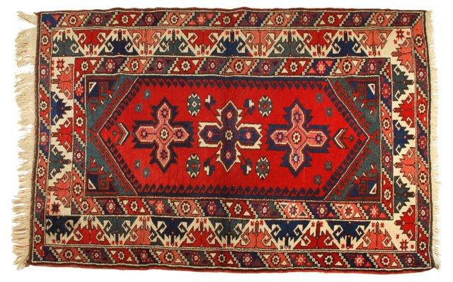 "Turkish Konya Rug, 6'1"" x 4'1"""