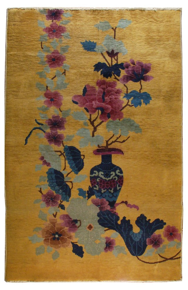 "Chinese Art Deco Rug, 4'2"" x 7'"