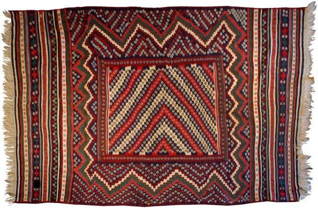Turkmen Kilim, 5' x 8'