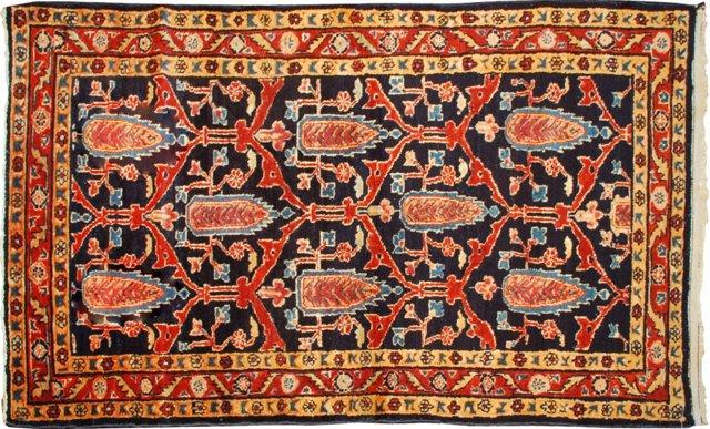 "Antique Lilihan Carpet, 2'9"" x 4'9"""