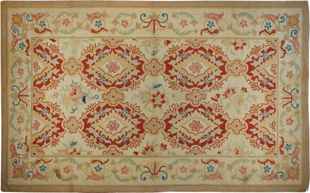 """Antique American Hooked Rug, 4'6"""" x 7'"""