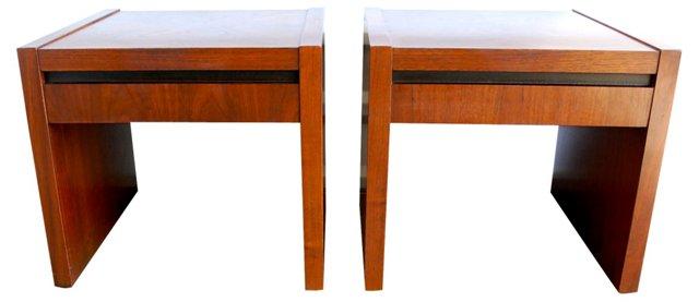 Vintage Side Tables, Pair