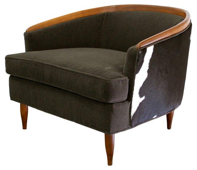 Mid-Century Modern  Cowhide Chair