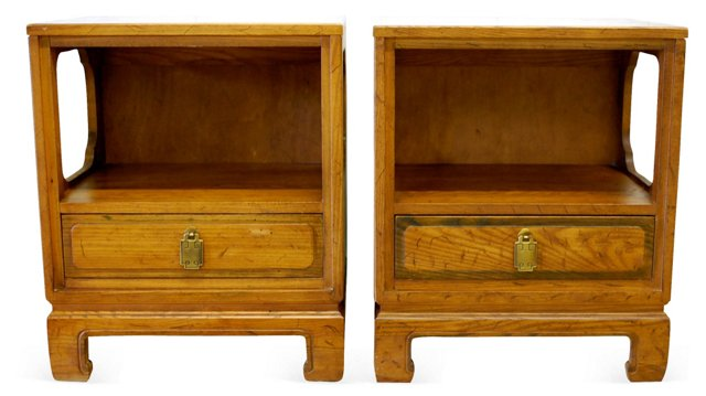 Ming-Style   Nightstands, Pair