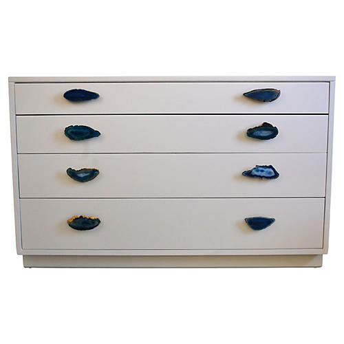 Lacquered Dresser w/ Custom Agate Pulls