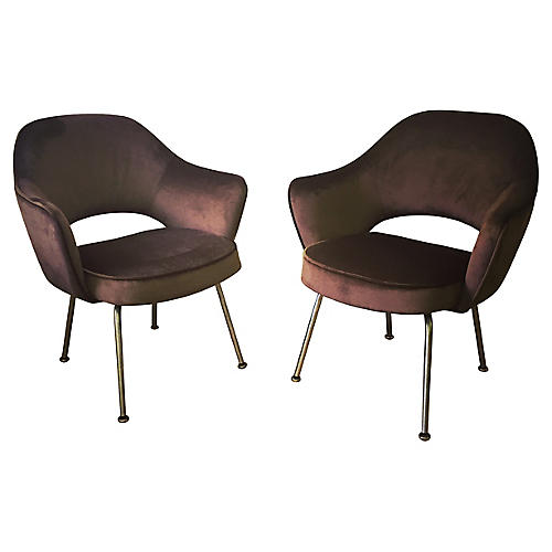 Eero Saarinen Executive Armchairs, S/2