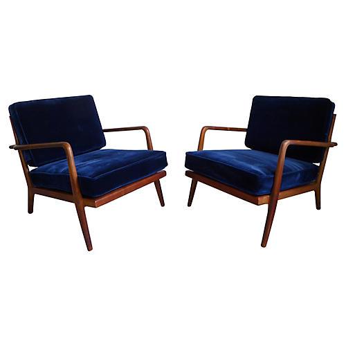 Mel Smilow Walnut Chairs, C. 1960