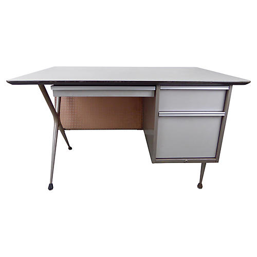 Vintage Industrial Desk by Raymond Loewy