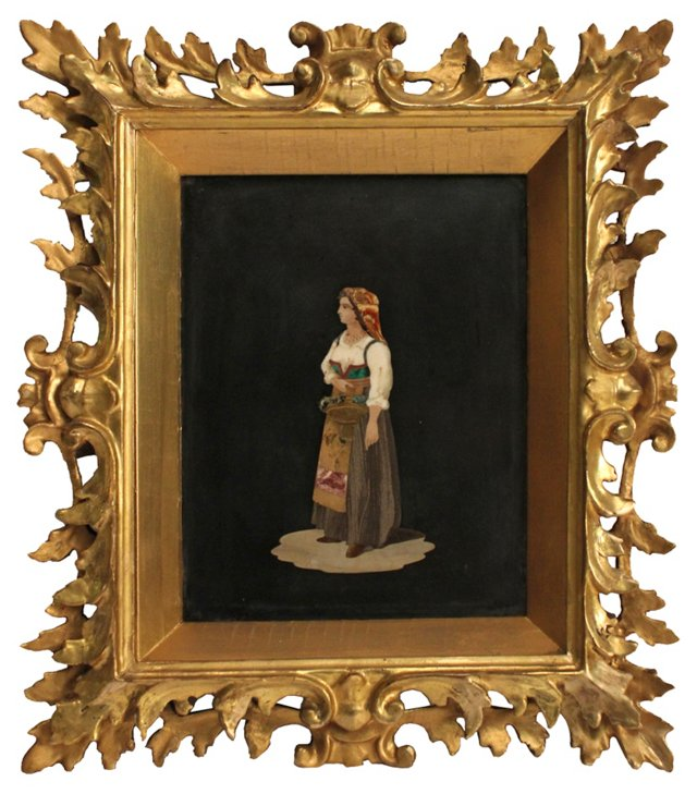 Pietra Dura of a Woman, C. 1850