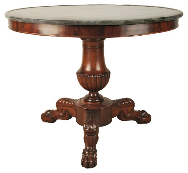 19th-C. French Center Table