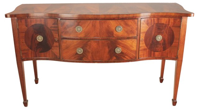 English Mahogany Hepplewhite Sideboard