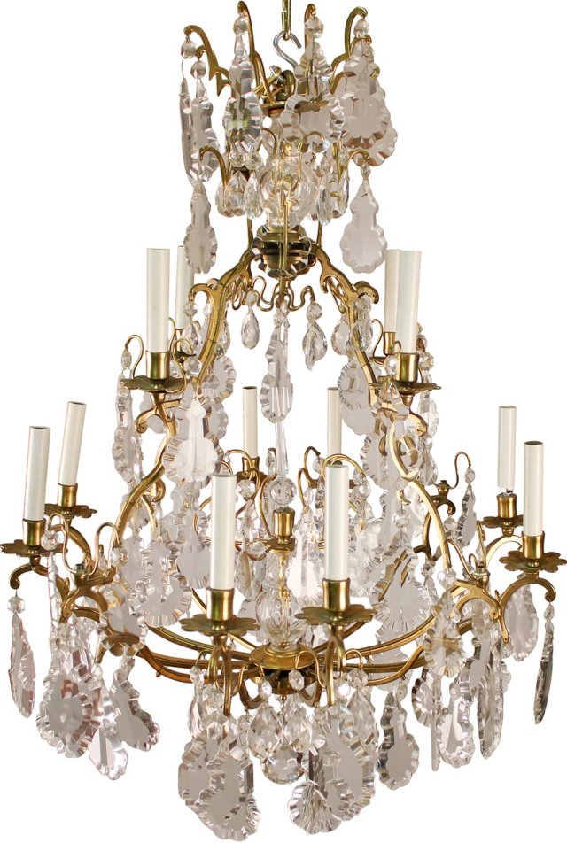 Louis XV-Style Crystal Chandelier