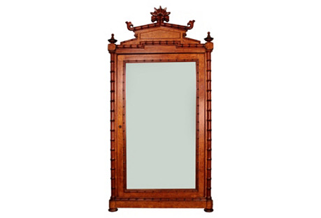 American Birds Eye Maple Armoire
