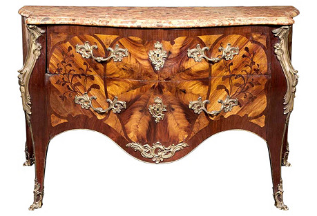 Louis XV-Style Bronze-Mounted Commode